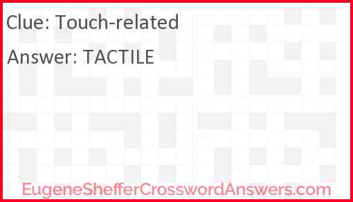 Touch-related Answer