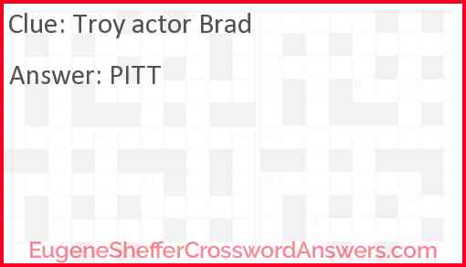 """""""Troy"""" actor Brad Answer"""