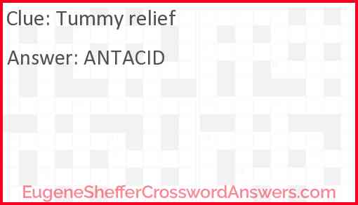 Tummy relief Answer