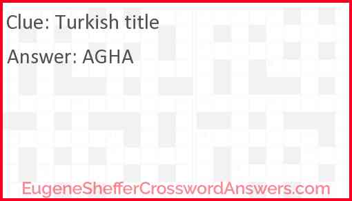 Turkish title Answer