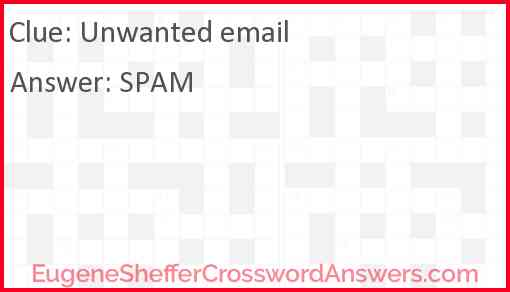 Unwanted email Answer