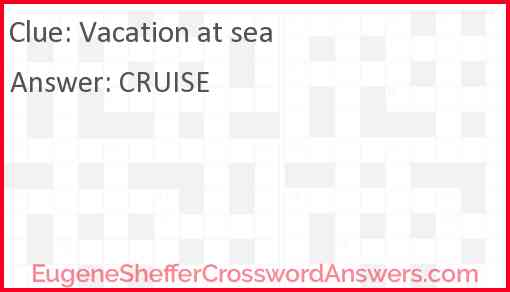 Vacation at sea Answer