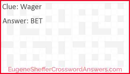 Wager Answer