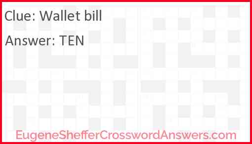 Wallet bill Answer