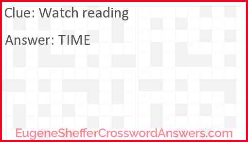 Watch reading Answer