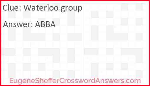 Waterloo group Answer
