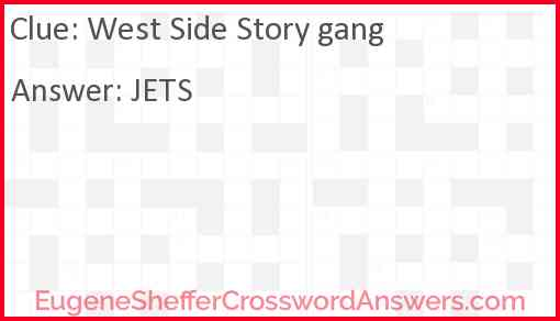 """West Side Story"" gang Answer"