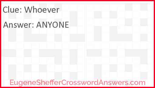 Whoever Answer
