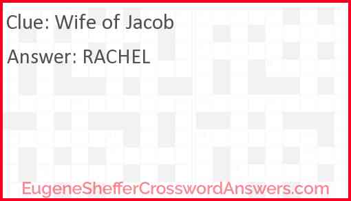 Wife of Jacob Answer