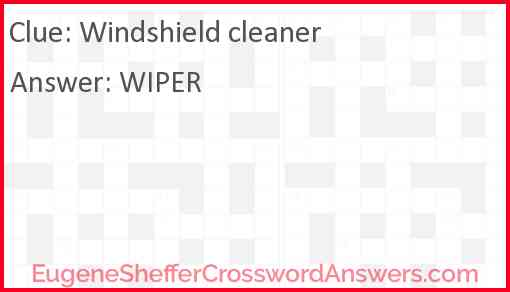 Windshield cleaner Answer