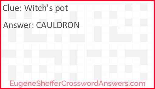 Witch's pot Answer