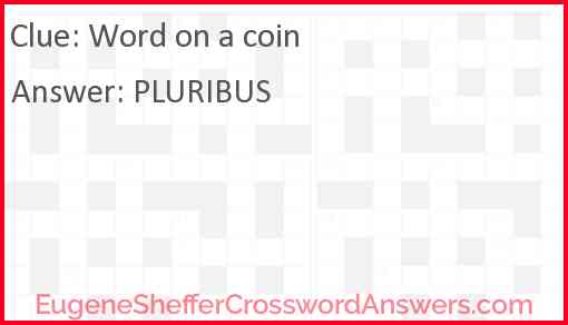 Word on a coin Answer