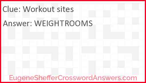 Workout sites Answer
