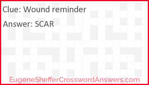 Wound reminder Answer