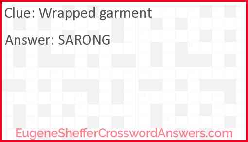 Wrapped garment Answer