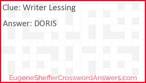 Writer Lessing Answer