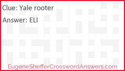 Yale rooter Answer