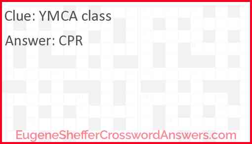 YMCA class Answer
